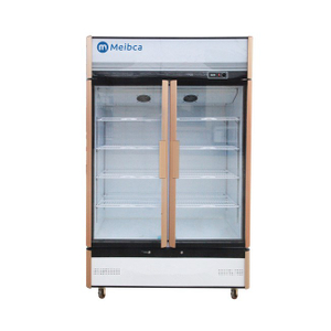 LED Light Fan Cooling 2 Door Upright Showcase