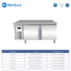 Commercial Undercounter Freezer For Kitchen And Bars